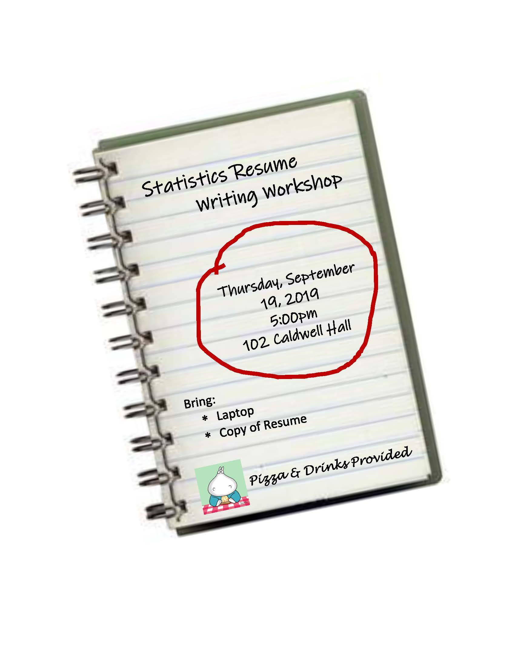 Statistics Resume Writing Workshop Department Of Statistics